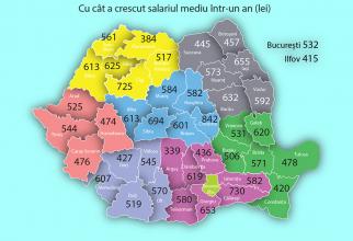 Harta creșterilor
