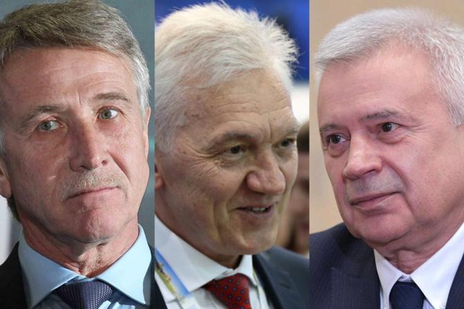 Leonid Mikhelson, Gennady Timchenko și Vagit Alekperov