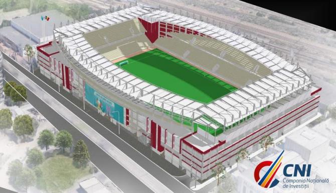 Stadionul Giulești după finalizarea lucrărilor de reconstrucție