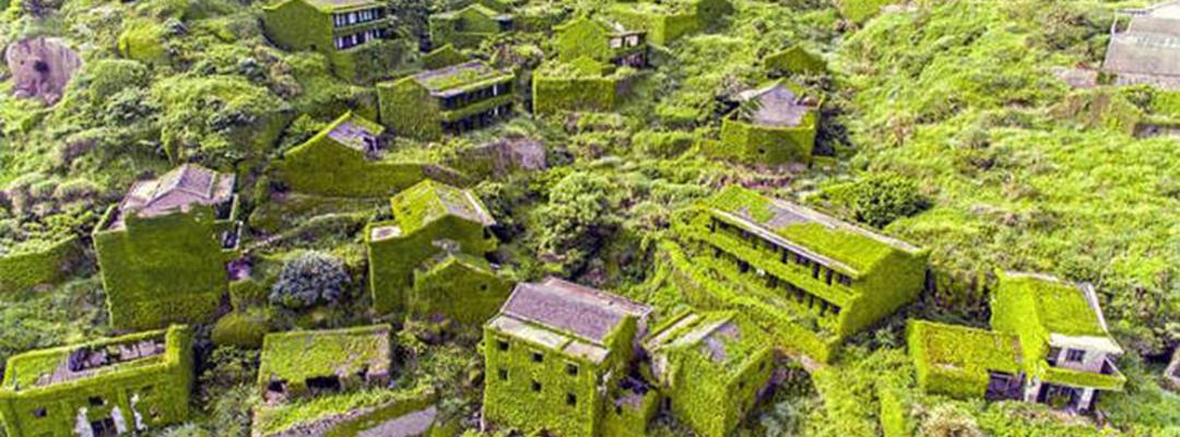 Un sat părăsit din China