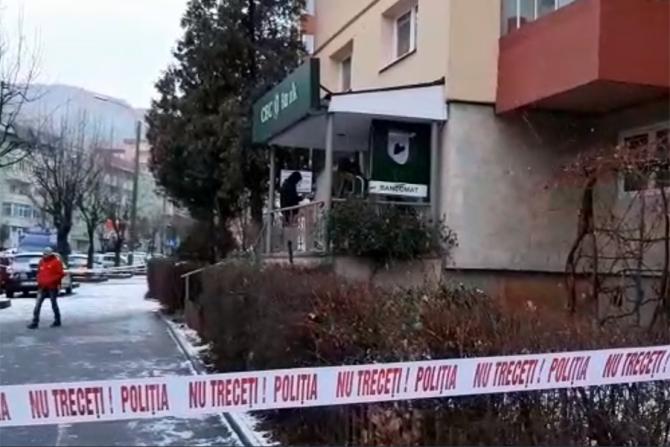 Jaf la o banca din Brasov