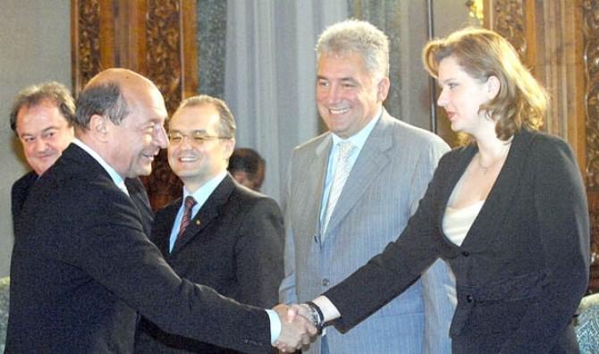 Traian Băsescu, Adriean Videanu și Roberta Anastase