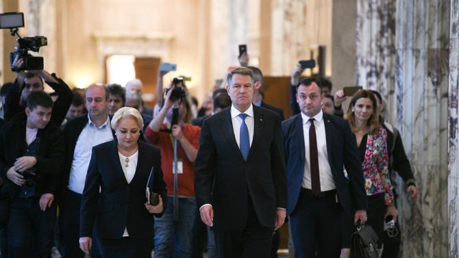 Președintele Iohannis la Palatul Victoria