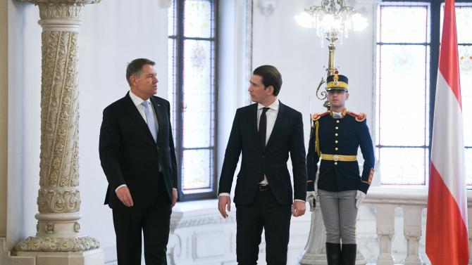 Klaus Iohannis și Sebastian Kurz