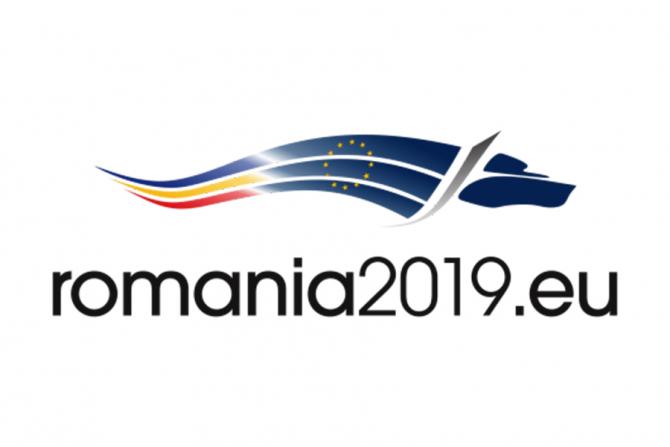 Logo-ul oficial al Președinției României la Consiliul Uniunii Europene