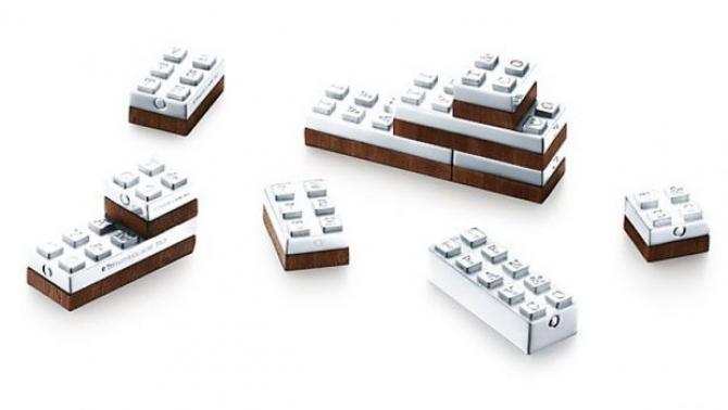 Set de piese Lego din argint, create de Tiffany