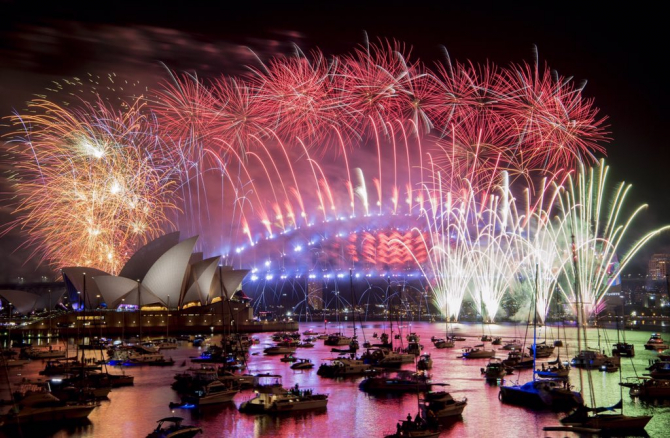 Anul Nou la Sydney, Australia
