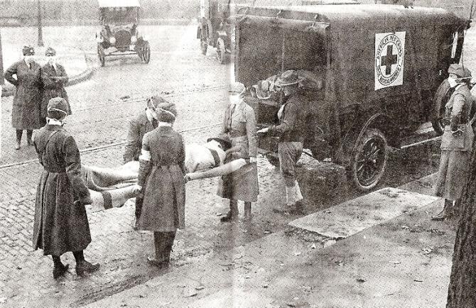 Victime ale gripei spaniole din 1918