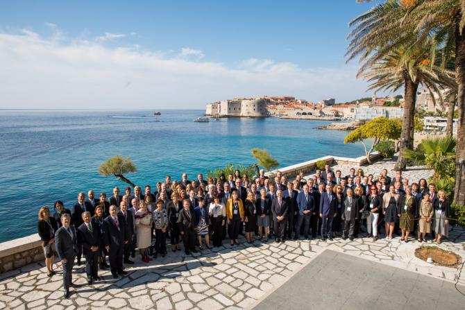 Președintele Curții de Conturi, Mihai Busuioc, la o reuniune a șefilor instituțiilor de audit din UE