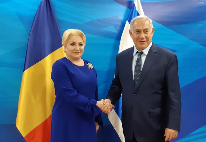 Viorica Dăncilă și Benjamin Netanyahu