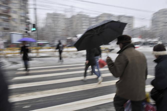 Vremea rea în Capitală