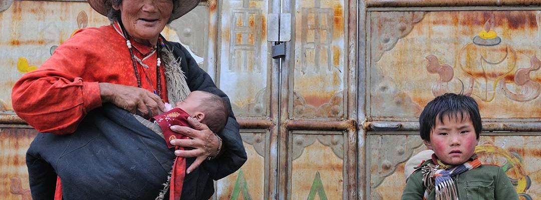 Bunică cu nepoți, China