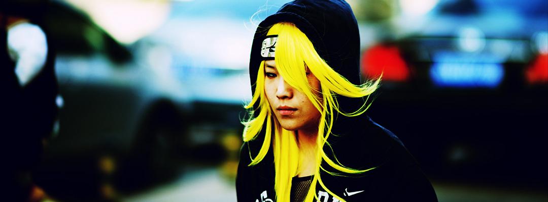 Fată de o stradă din Shanghai, China