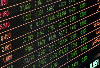 Indicii bursei au coborât spre finalul ședinței