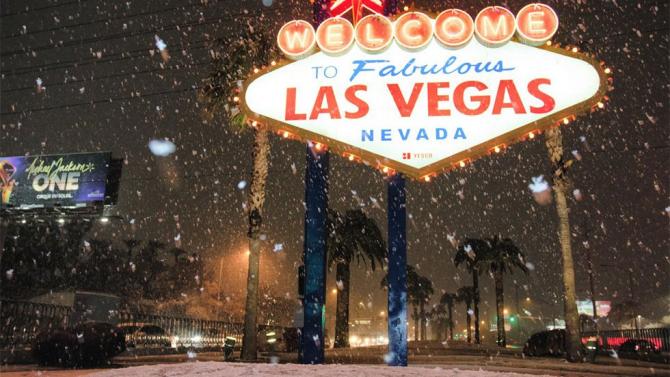 Ninsoare în Las Vegas