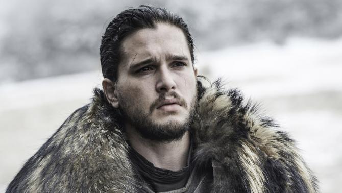 Kit Harington în rolul Jon Snow dn serialul Game of Thrones