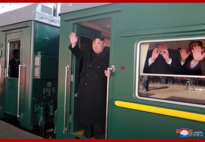 Kim Jong-Un, în trenul care l-a dus la Hanoi