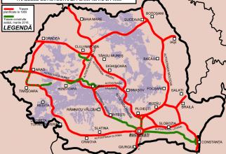 Rețeaua plănuită de Ceaușescu