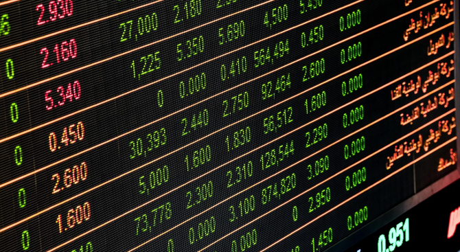 Volumul tranzacțiilor în creștere față de ziua precedentă