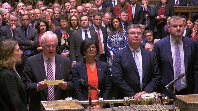 Parlamentul de la Londra, votând ultima variantă de acord