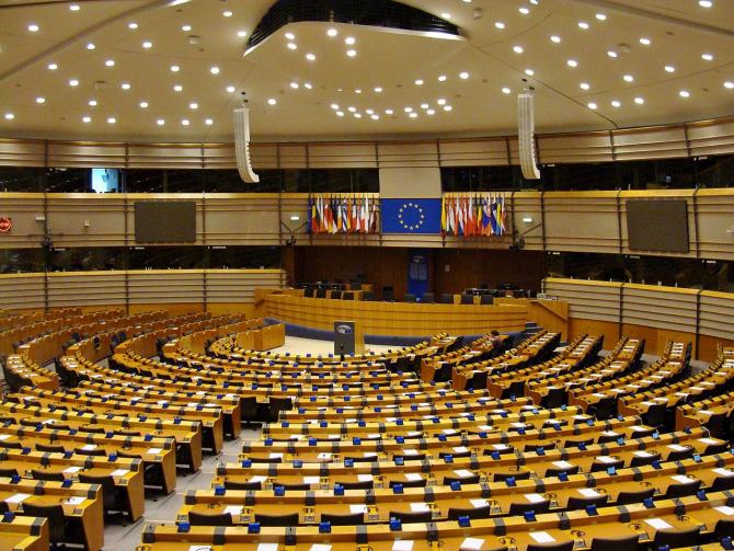 Parlamentul European din Bruxelles