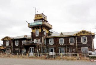 Clădirea elegantă a aeroportului din Seimchan