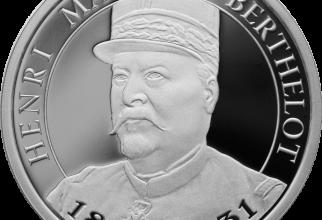 Reversul monedei îl arată pe generalul Berthelot
