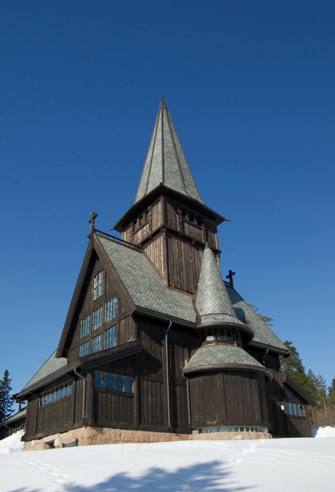 Capela Holmenkollen, una dintre bisericile incendiate de Vikernes