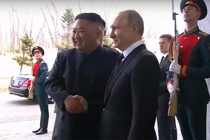 Kim Jong Un si Vladimir Putin