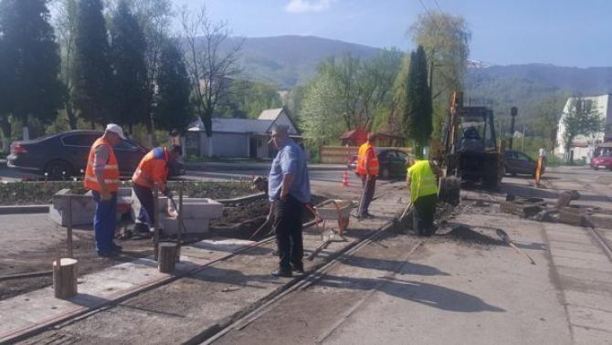 Lucrari de reparații în zona Apahida