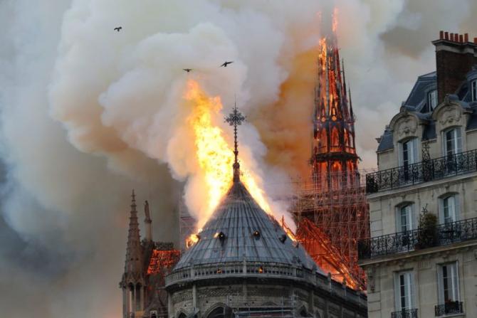 Incendiul la catedrala Notre-Dame din Paris