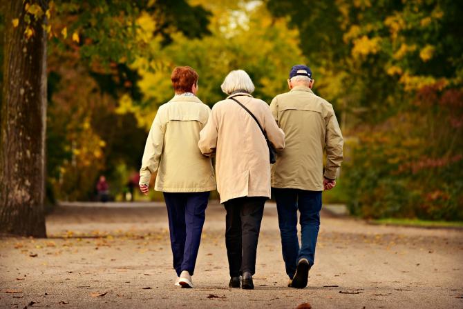 Pensionari la plimbare