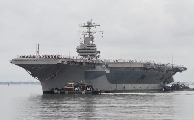 Două portavioane înseamnă 9.000 de marinari