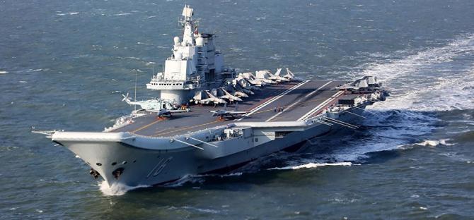 Chinezii sunt foarte mândri de noua lor navă militară
