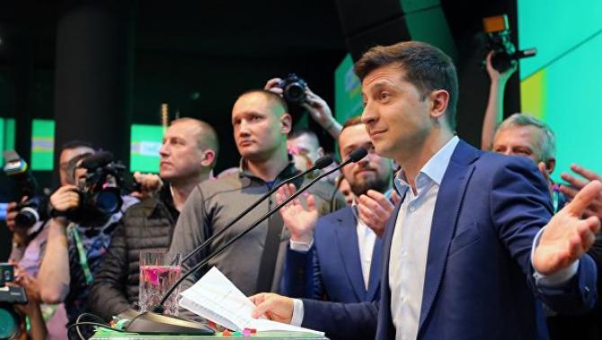 Președintele ales al Ucrainei, Volodimir Zelenski