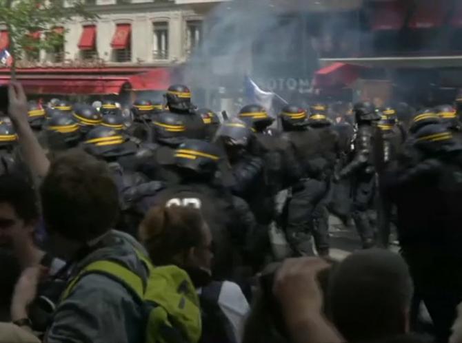 Violențe în timpul manifestațiilor cu ocazia zilei de 1 mai