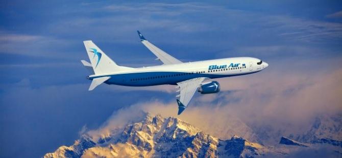Prima aeronavă nouă Boeing 737-8 MAX care a intrat în flota Blue Air