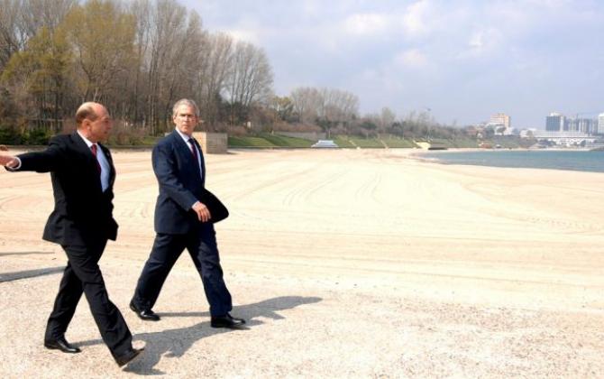 Traian Băsescu și George W. Bush la Neptun