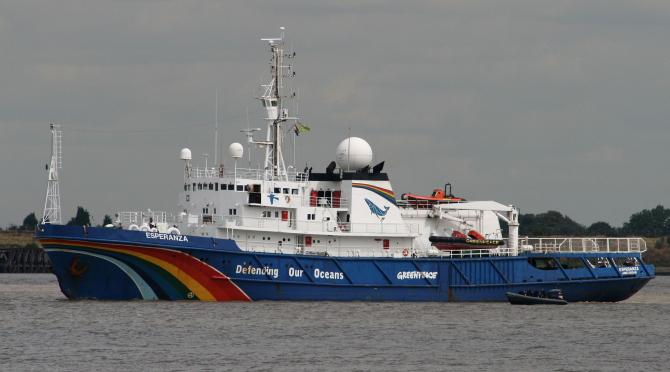 """Vasul """"Esperanza"""" al Greenpeace a fost cumpărat de la Marina Rusă"""