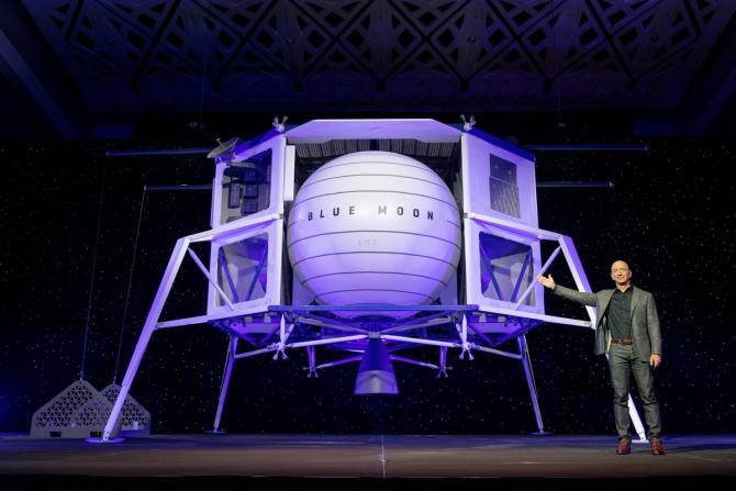Jeff Bezos prezintă Blue Moon