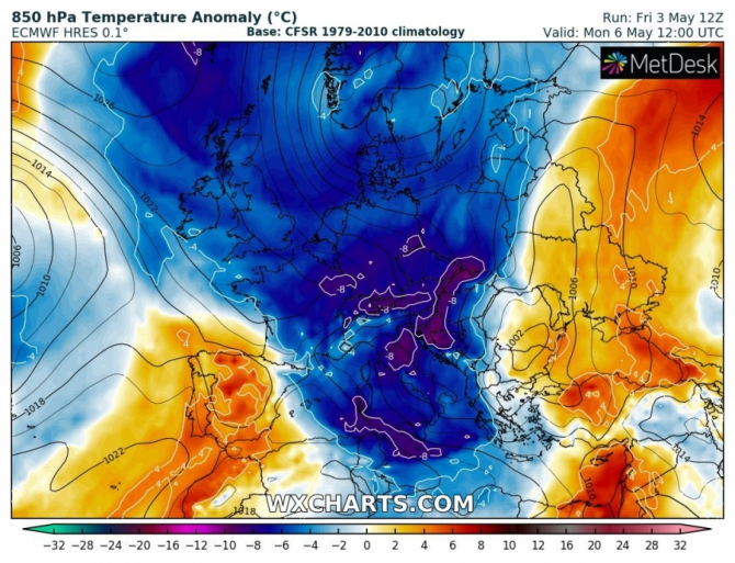 Frontul polar care a păstruns in Europa