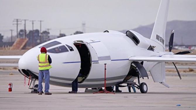 Un avion care pare, mai degrabă, o jucărie
