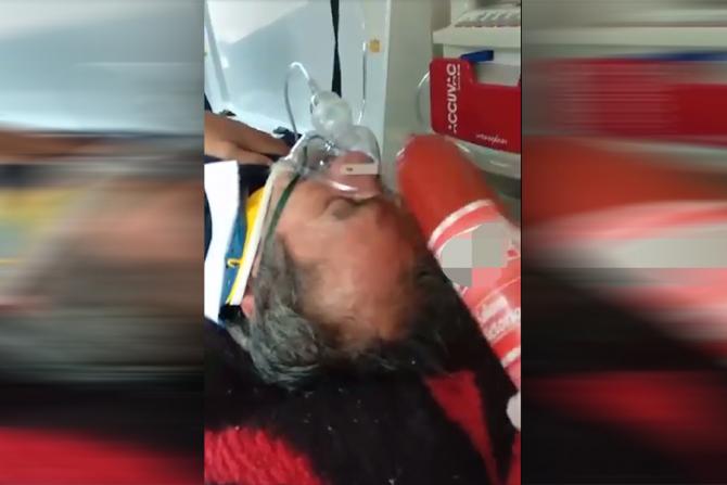 Pacient agresat cu un parizer în timp ce acesta este inconștient