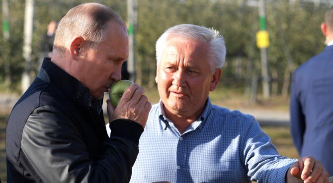 Vladimir Putin la producătorii de fructe