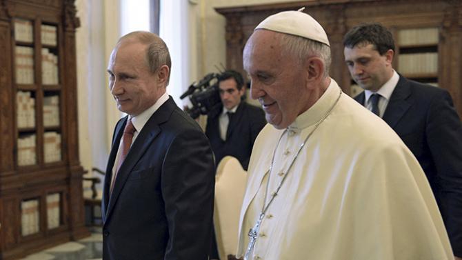 Vladimir Putin și Papa Francisc