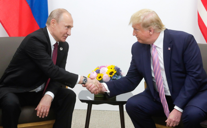 Vladimir Putin și Donald Trump la G20 de la Osaka