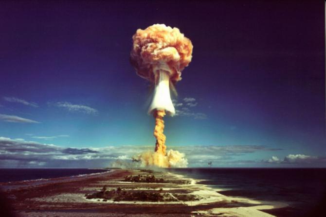 Test nuclear în insula Yuzhny