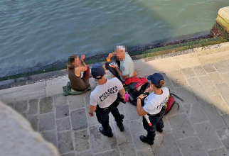 Cei doi berlinezi au fost reclamați de un rezident al Veneției