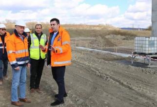 Ministrul Răzvan Cuc a fost în vizită pe șantier