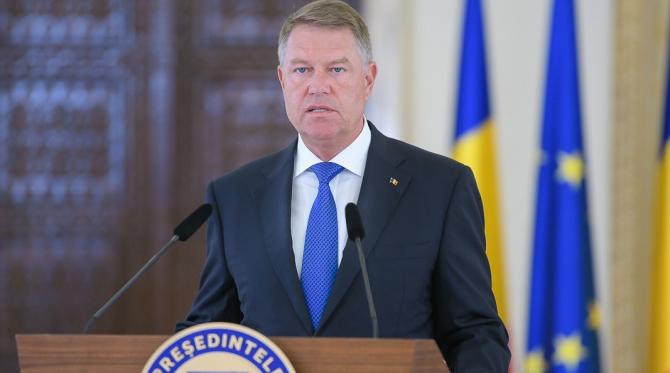 Președintele Klaus Iohannis, vorbind de la Cotroceni